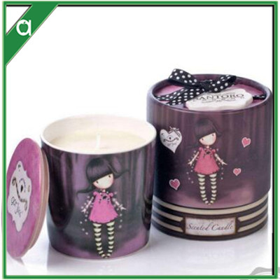 Lovely Princess Wind, Aromatherapy Candle, Ceramic Cartoon Character, Flower Fragrance