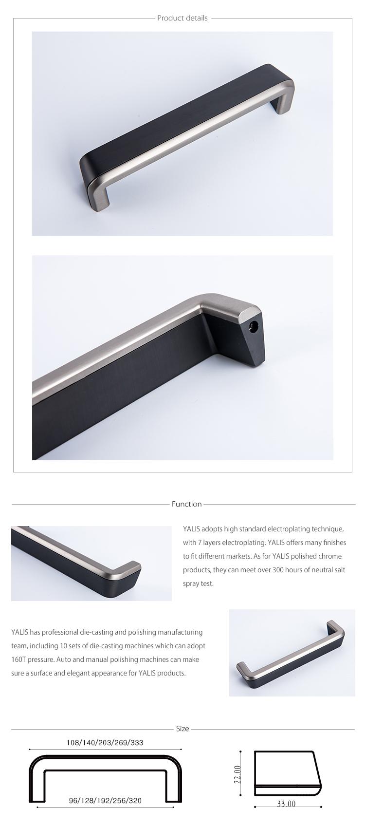 Modern New Design Zinc Alloy Hidden Furniture Kitchen Cabinet Handles