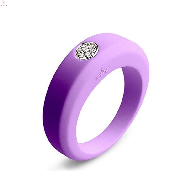 Engraved Masonic Band Rubber Silicone Ring, Rainbow Thumb Finger O Wedding Diamond Silicone Ring