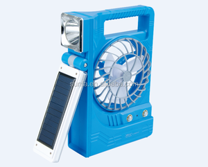 YAJIA light YJ 5866F plastic outdoor emergency led USB solar fan rechargeable