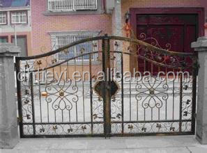 hot sale automatic wrought iron entrance front door gate