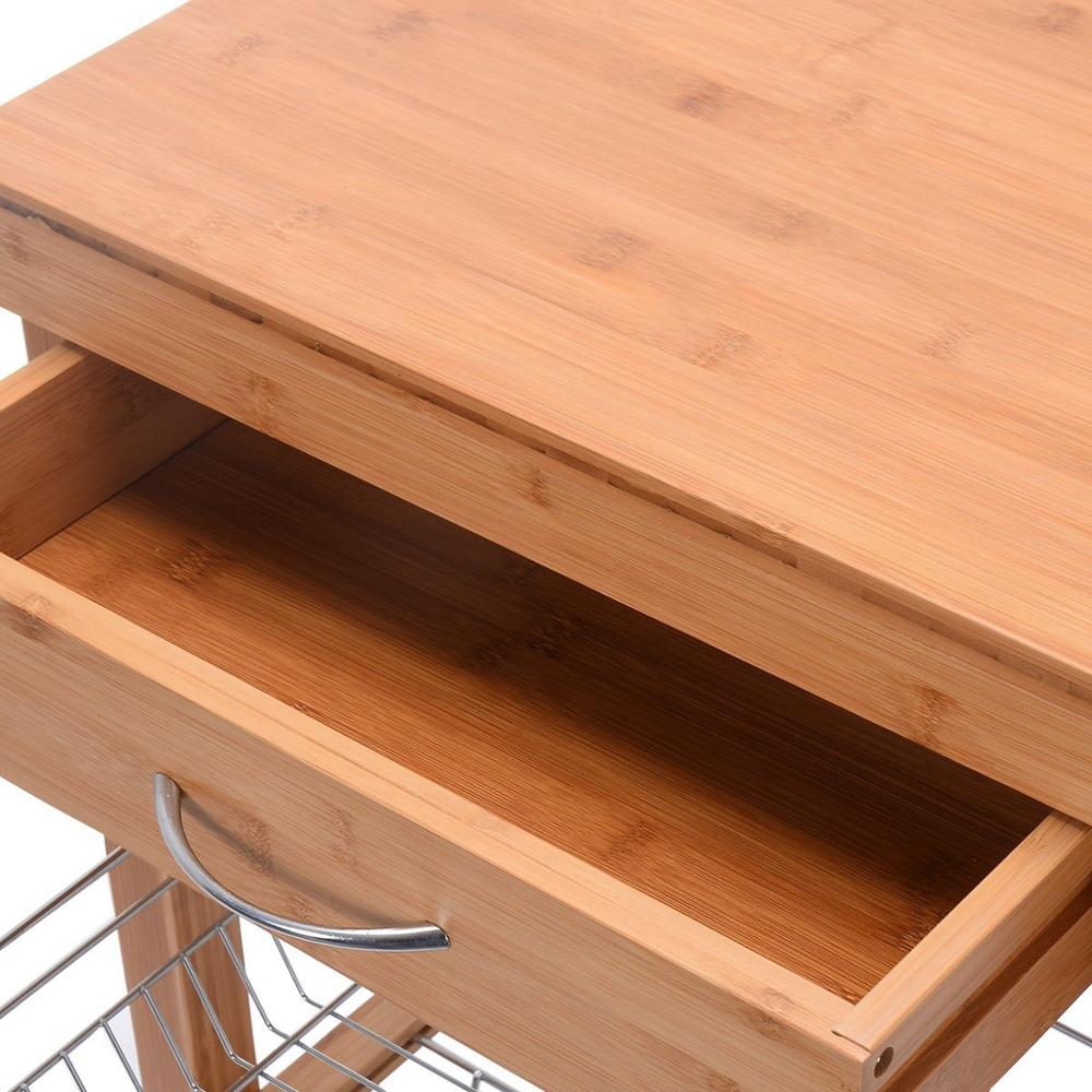 small butchers block wooden kitchen trolley 5