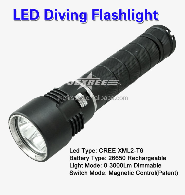 Jexree Newest Uv Flashlight Diving Torch,Emergency Diving Led ...