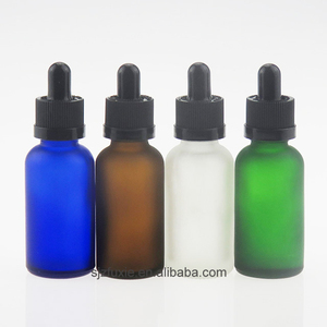High quality 30ml frosted glass dropper bottles with glass pipette 1 oz e liquid bottles