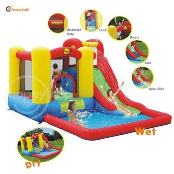 Happy hop amusement park inflatable water slide 9271 for Happy hop inflatable water slide