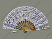 battenburg lace wedding souvenir fans