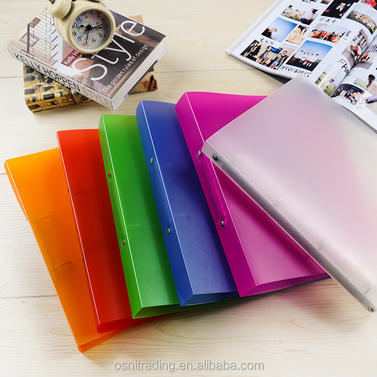 Audited factory A4 custom plastic 3 ring binder folders