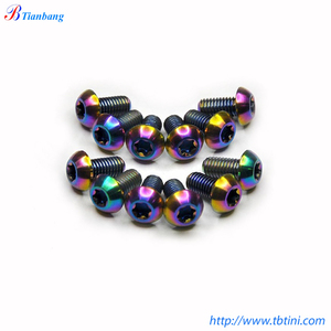 Anodized Mixed Color Titanium Bolts / Screws / Fasteners