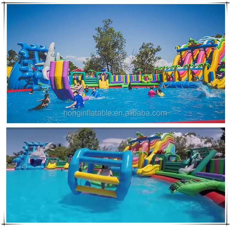 Commercial Aqua Park Equipment Portable Outdoor Backyard Inflatable Water Park For Kids And Adults