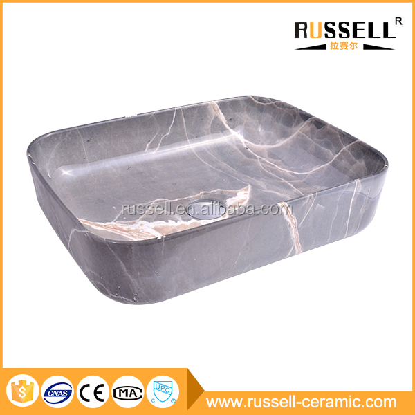 China commercial sink factory marble artificial concrete basin