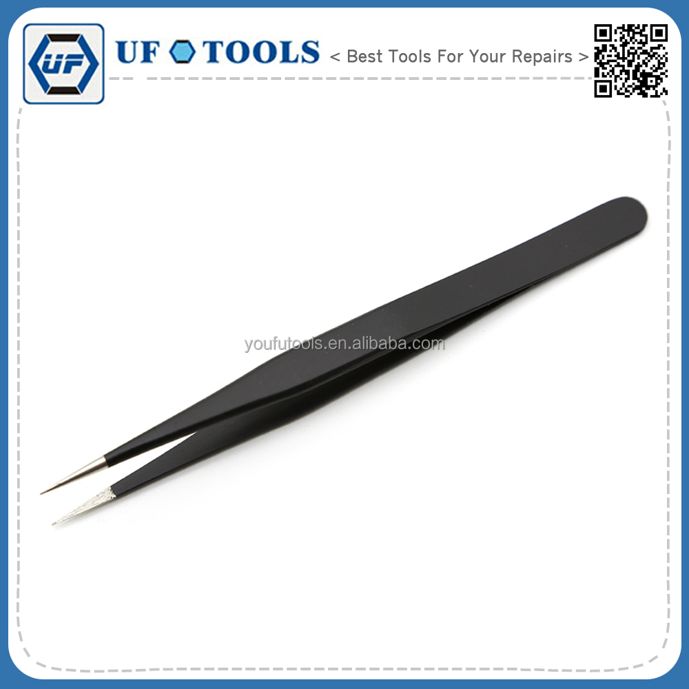 Promotion BGA Repair Tool Stainless Steel Anti-static Fine Tip Straight Tweezers
