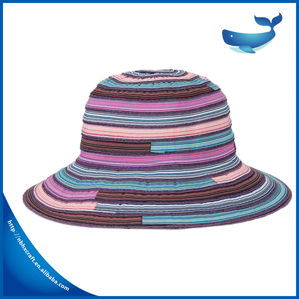 Hot new fashion comfortable fodable summer ladies hat with unique national style