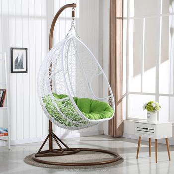 Indoor Rattan Bamboo Egg Swing Chair Adult Bedroom Hanging