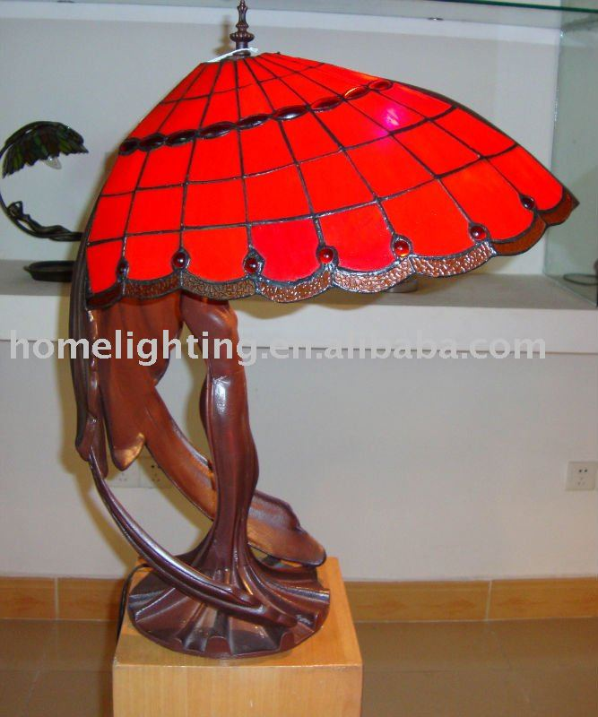 TFA-1912 tiffany style home decorative led lighting glass table lamp made in China