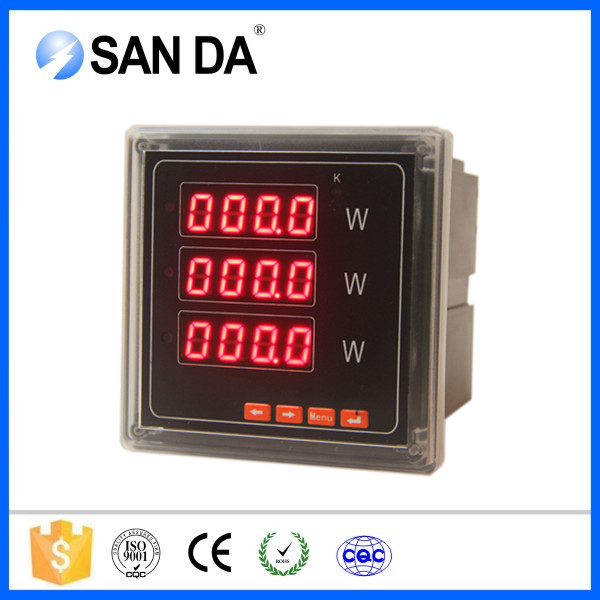 3 phase LED digital display electrical power meter SD994P-9K4
