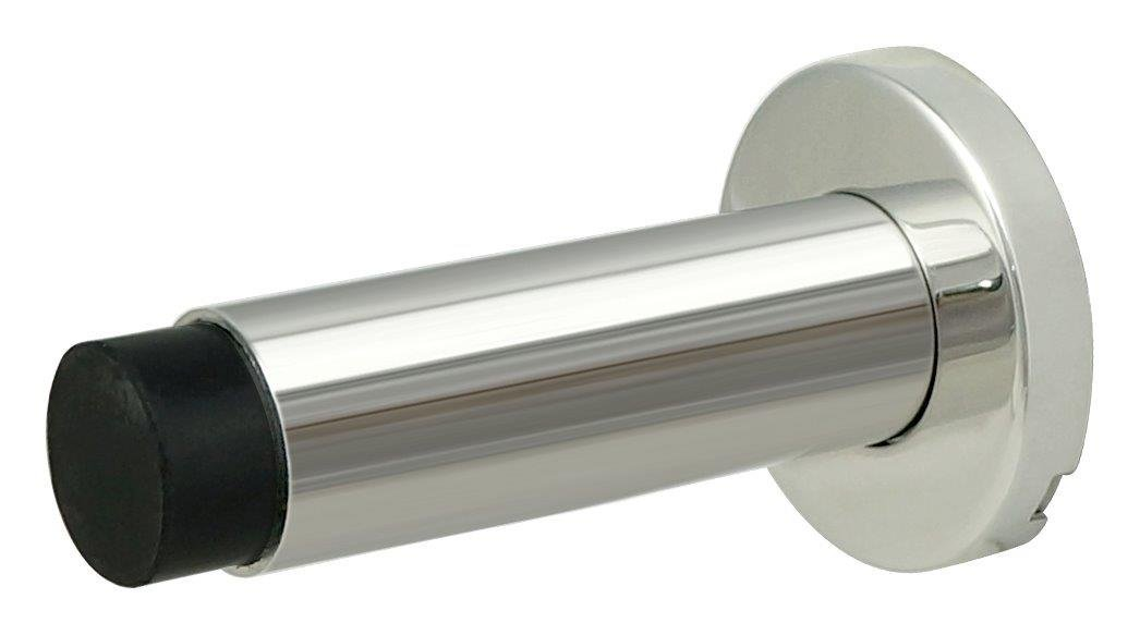 INOX DSIX04-32 Wall Mount Door Stop On Rose, Polished Stainless Steel