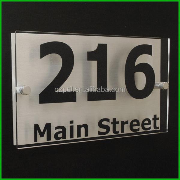 Best Quality High Custom Acrylic Front Door Name Plates - Buy Front Door  Name Plates,House Number Plate,Small Acrylic Box Product on Alibaba com