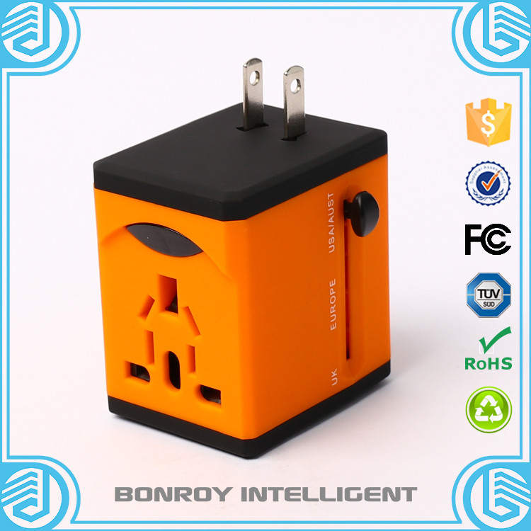 colorful cube travel adapter converter charger usb multiple universal plug in for hotel