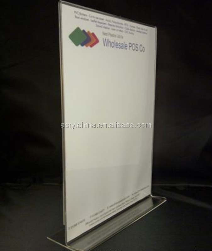 Clear Acrylic Vertical Menu Poster Holder With 297*210mm And 90 ...