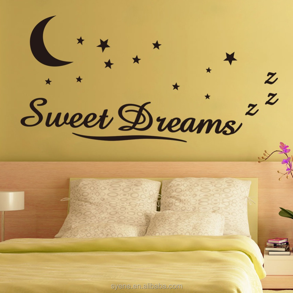 Children Wall Stickers For Kids Rooms Art Vinyl Quotes Sweet Dream ...