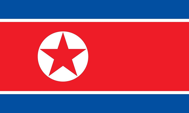 Table-Flag / Desk-Flag: Korea (Democratic People s Republic) (North Korea) 15x25cm