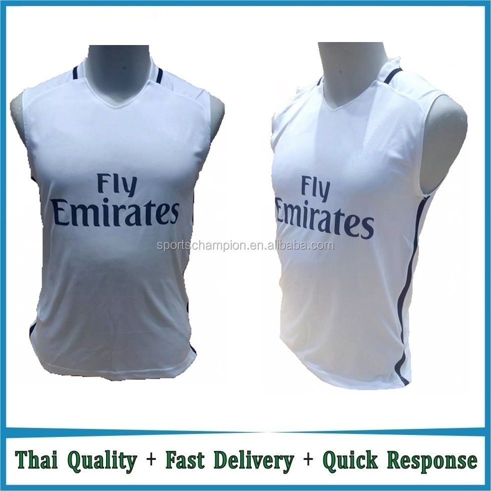 2016 Real Thai quality colorful football training vest soccer training vest