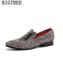 Блестящие мужские лоферы; Мужские модельные туфли; Свадебная обувь; Мужская обувь для вечеринки 2020 года; Мужская элегантная обувь; Zapatos De Hombre...(Китай)