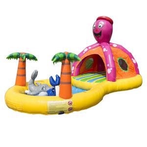 Mini dolphin inflatable arch bouncer with water pool