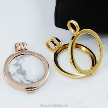 DAICY wholesale top quality stainless steel round locket coin holder pendant