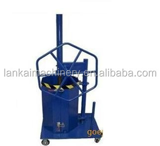 Mobile and small plastic bottle manual baler/trash hand pressing machine