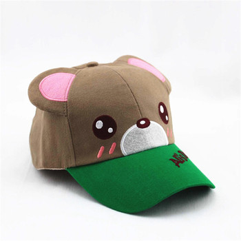 cfe55662f959d Customized Cute Animal Bear Head Kids Baby Baseball Cap With Ears Muff