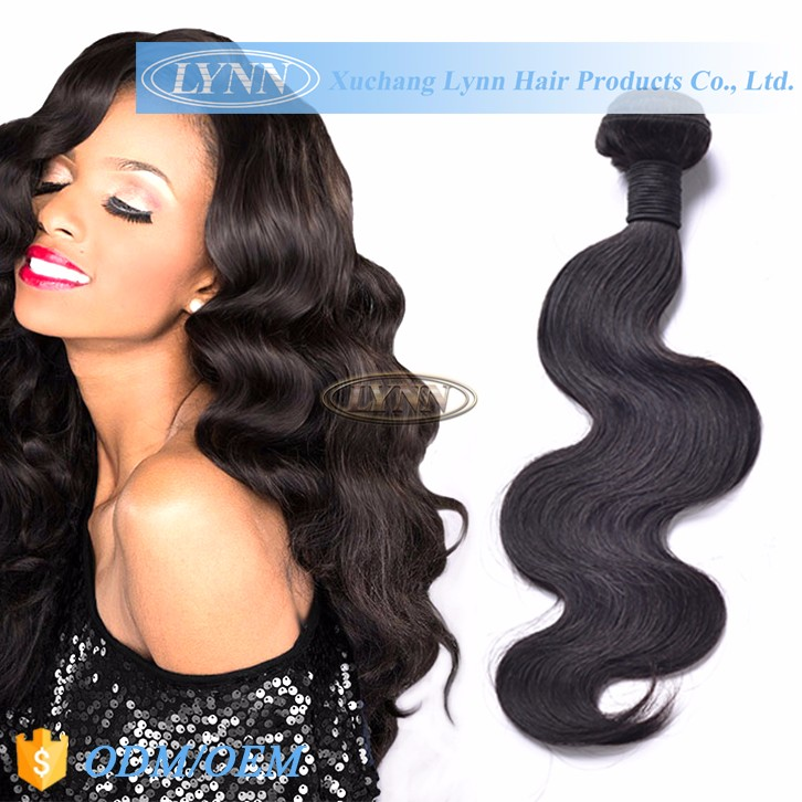 Full cuticle unprocessed natural brazilian wave hair pieces
