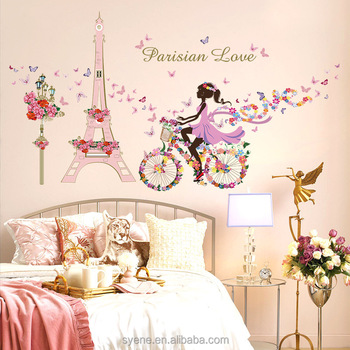 Living Room Decor Home Decor Removable Paris Eiffel Tower Art Decal Wall  Sticker Mural DIY 3d