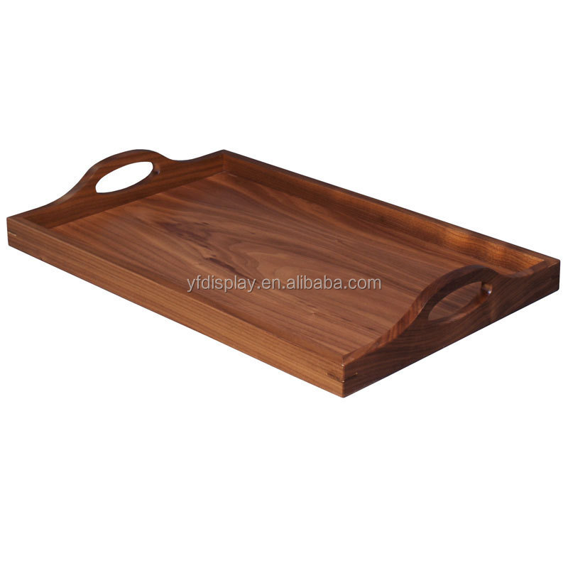 High Quality Wood Serving Tray With Handles
