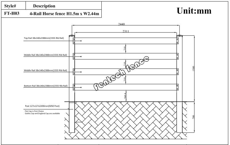 White Popular High Quality Strong Plastic Pole For Fence