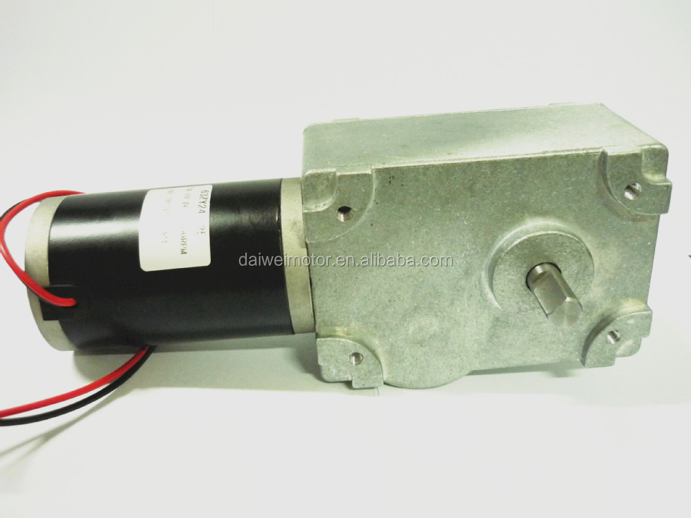 Factory supply High Torque 24V 19rpm DC 90 Degree Right Angle Worm Gear Motor 150JSX188-63ZY-2435