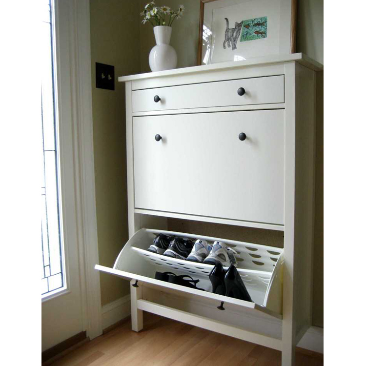 Home And Hotel Used Cheap Shoe Rack Design 2 Door White Shoe Cabinet ...
