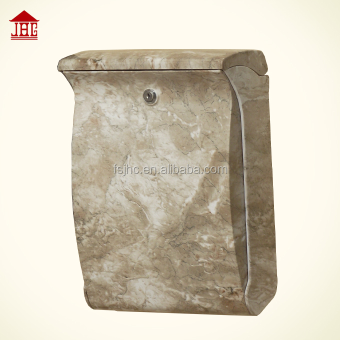 Marbling ABS plastic mailbox/outdoor letter box/plastic box waterproof outdoor