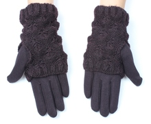 Hot sale personalized brown womens cheap winter glove iphone touch gloves
