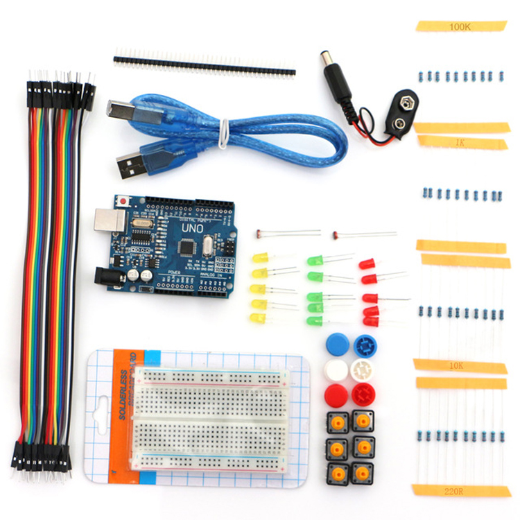 Starter Kit UNO R3 Mini Breadboard LED Jumper Wire Button for arduinos Diy Kit