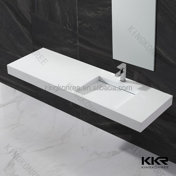 Big size line drain bathroom basin and bathroom vanities