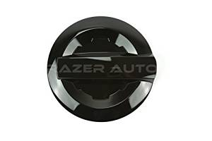 Razer Auto 14-15 Chevy Chevrolet Silverado 1500, 2015 Chevy Chevrolet Silverado 2500/3500, 14-15 GMC Sierra 1500, 2015 GMC Sierra 2500/3500 Gloss Black Gas Door Cover For Long Bed Truck Only