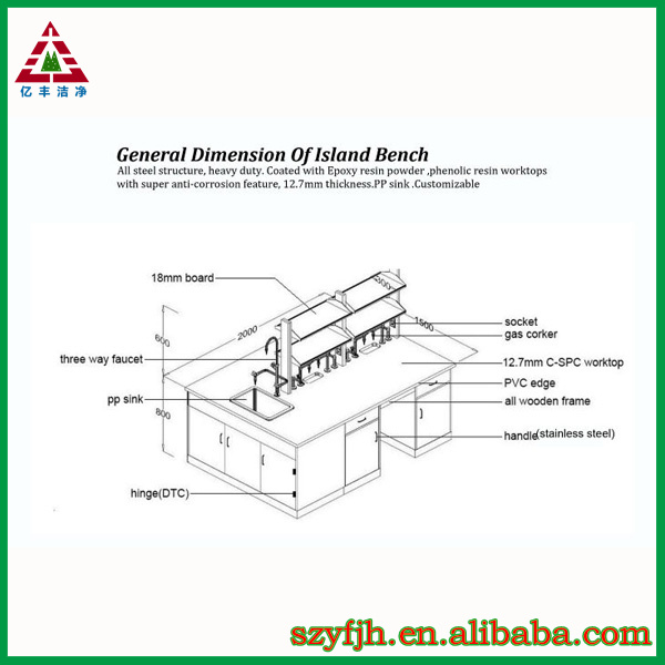 School furniture lab table laboratory equipment dental for Table 6 4 specification for highway works