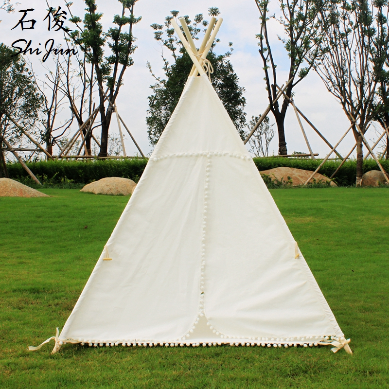 ShiJ Tipi cotton Canvas Kids Play Tent House