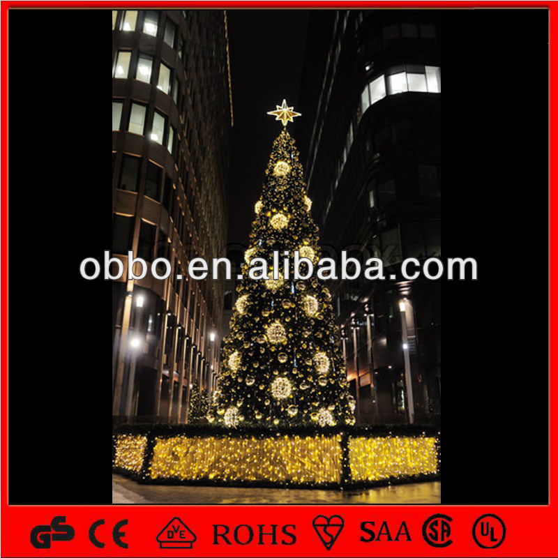 Commercial 30ft/40ft/50ft/100ft Large Christmas Tree With Lighted ...