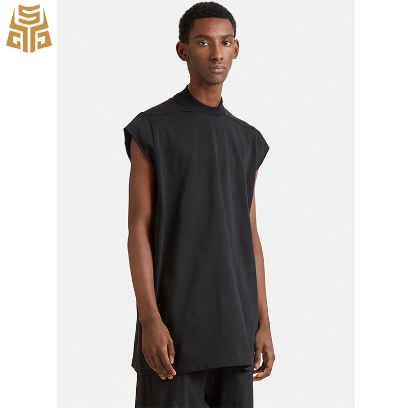 517b99e1d91099 Plain Rib Collar Raw Black Vintage Sleeveless T Shirt Mens - Buy ...