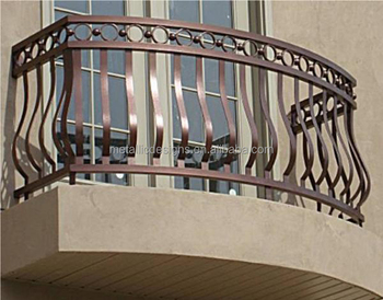 Wroguht iron window grills with customized design size for Terrace tubular design