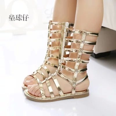 2015 Summer Shoes Girls Sandals Children Knee High