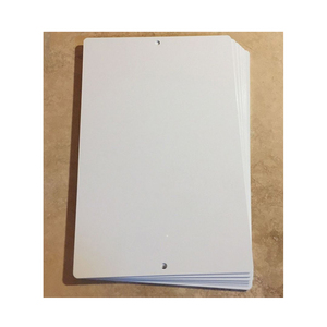 "2019 DaLiJia Dye White Sublimation Aluminum Blanks 12"" x 9""' 12"" x 8""with Two holes RC(SA-D827)"