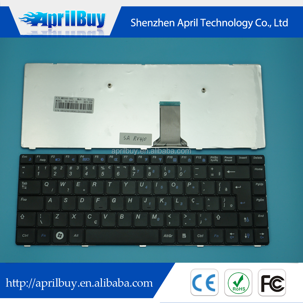 High Quality laptop keyboard for Samsung NP RV410 BR keyboard